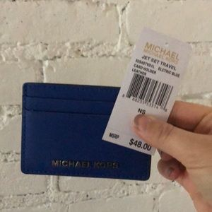 Michael Kors Card Holder in Electric Blue